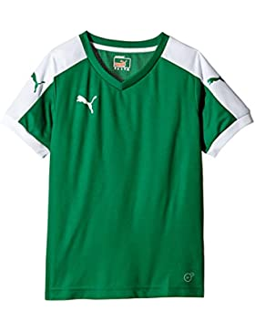 Puma T-Shirt Pitch Short Sleeve, Camiseta de Fútbol para Niños, Verde (Power Green/White), 7-8 Años (Talla del...