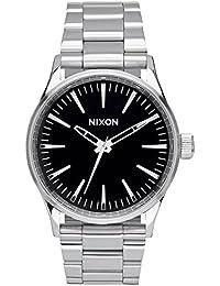 Nixon Damen-Armbanduhr Sentry 38 SS Black Analog Quarz Edelstahl A450000-00