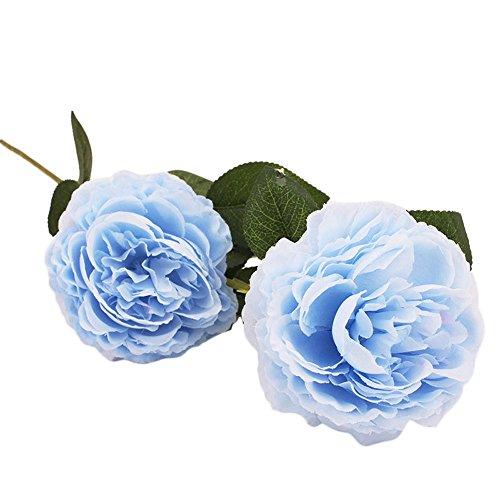 ngstrose künstliche Blume Latex Real Touch Braut Hochzeit Bouquet Home Decor Seide Künstliche Rose Blumen Brautstrauss Blumen(C) ()