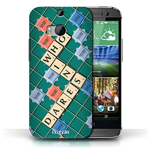 Kobalt® Imprimé Etui / Coque pour HTC One/1 M8 / Patience Vertu conception / Série Mots de Scrabble Celui Qui Ose