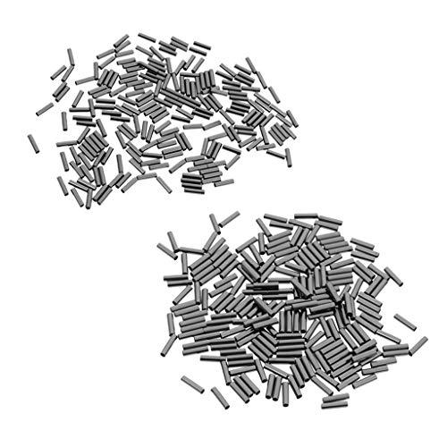 FLAMEER 400 Stücke Einzel Crimp Anschlüsse Kupferrohr Draht Führer Ärmeln Angeln Werkzeug -