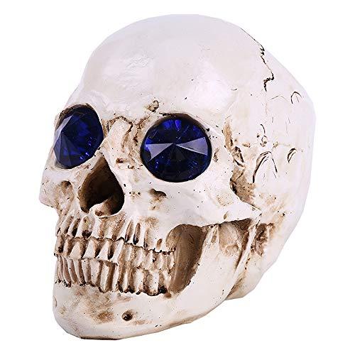 LUCKFY Menschliches Schädel-Skelett | Resin Replica Model Medical Anatomical | Home Stehtischdekoration | Medizin Lehre Forschung (Auf Malen Körper Dem Halloween)