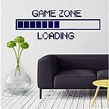 Game Zone Computer Gaming Wandaufkleber Vinyl Wandtattoo Decor Loading Videospiel Wandtattoo Abnehmbare Tapete Poster 57X22 cm