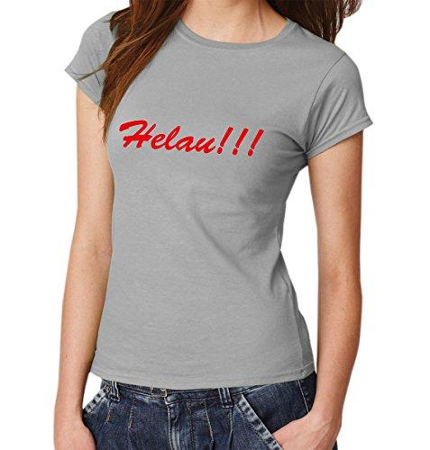 -- Helau!!! -- Girls T-Shirt Sport Grey