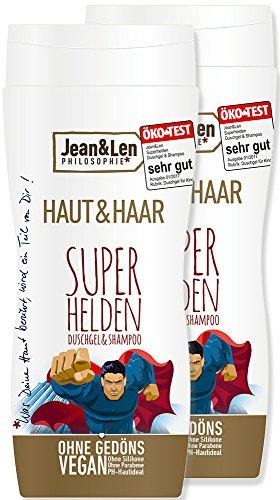 Jean & Len Superhelden 2in1 Shampoo und Duschgel, 2 Stück