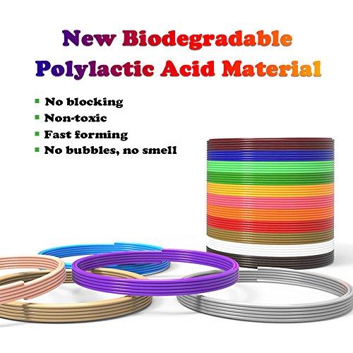 dikale 3D Stift Farben PLA - 16 Farben 12.2 M, 3D Stift Nachfüller 1,75mm für 3D Stift, 3D Drucker, Kompatibel mit ODRVM, Canbor, Uvistare, Sunlu, PLUSINNO, QPAU, Lovebay, Juboury, Nexgadget 3D Pen - 4