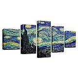 WLHQH 5 Stück LeinwanddruckÖlgemälde Stil Wandbild Kunstdruck Wohnzimmer Wanddekoration 150x80cm Leinwandbild Geeignet für Heimtextilien(Ohne Rahmen)