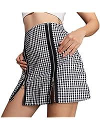 Paquete de empalme con cremallera de tela escocesa de mujer sexy Falda de  nalgas c3636ae0a2f7