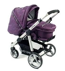 Chic 4 Baby 150 43 Linus Orchidee - Passeggino combinato con borsa 3 in 1 extra leggera, struttura resistente