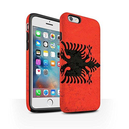 Coque Matte Robuste Antichoc de STUFF4 / Coque pour Apple iPhone 7 Plus / Albanie/Albanais Design / Drapeau Collection Albanie/Albanais