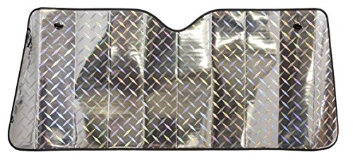 Walser 24051 Protection Solaire pour Pare-Brise Avant avec Design Laser et Chambres d'air 130 x 60 cm