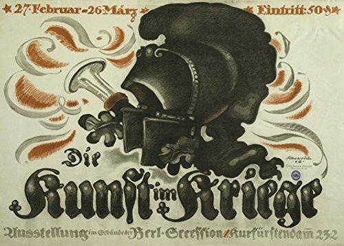 Poster, deutsches Propaganda-Plakat, AufschriftDie Kunst im Kriege, Erster Weltkrieg 1914-18, Vintage, A3, 250g/qm, glänzend -