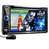 "XOMAX XM-2DTSBN6220BT Autoradio con navigatore GPS con cartografia europea + Funzione vivavoce Bluetooth + Display touch screen 6,2'' / 16cm, risoluzione HD, 800 x 480 px, 16:9 + Porta USB (128 GB) + Slot per schede Micro SD (128GB) + lettore CD / DVD ""codefree""+ MPEG4, MP3, WMA, JPEG, ecc. + Ingresso per telecamera retromarcia + Ingresso per comandi al volante e uscita subwoofer + Dimensioni standard doppio DIN / 2DIN + Telecomando, plancia, mascherina"