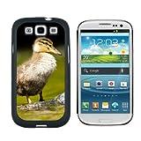 Baby Ente–Entchen Snap On hart Schutzhülle für Samsung Galaxy S3, Schwarz