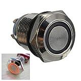 12mm 2A/36VAC Metalldrucktastenschalter Spritzwassergeschütz Wohnung LED beleuchtete Schalter