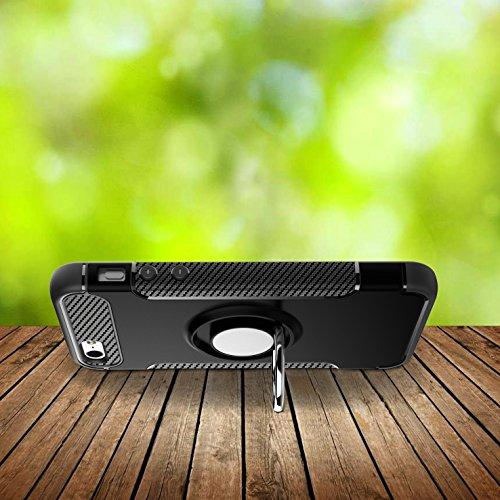 BCIT iPhone 5 / 5S / SE Ring Schnalle Hülle - Multifunktions Cover mit 360 ° Drehbar integriertes Ring Halter Ständer für magnetisch KFZ Halterung, Kickstand Tasche für iPhone 5 / 5S / SE - Gold Schwarz