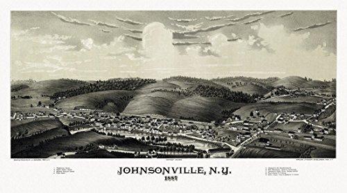 The Poster Corp Antique Map of Johnsonville New York 1887 Rensselaer County Kunstdruck (45,72 x 60,96 cm) - 1887 Antique Map
