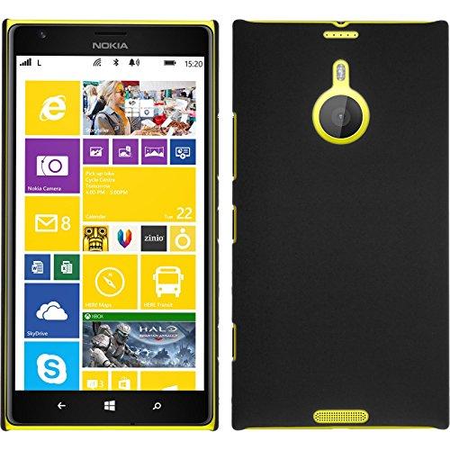 PhoneNatic Case für Nokia Lumia 1520 Hülle schwarz gummiert Hard-case + 2 Schutzfolien