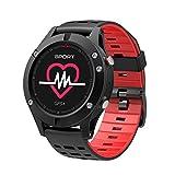 NO.1 F5 inteligente reloj IP67 a prueba de agua del ritmo cardíaco del monitor de GPS Múltiples modos de deportes OLED altímetro Bluetooth rastreador de ejercicios para Android iOS