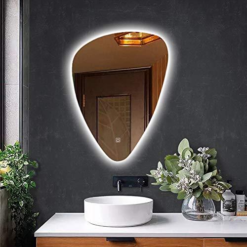 WYRX-Spiegel Badezimmerspiegel Intelligente Anti-Fog-LED-Toilette mit Heller, rahmenloser Bluetooth-HD-Make-up-Waschtisch mit Hintergrundbeleuchtung -