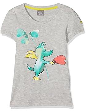 Puma Niños Tabaluga de Tee–Camiseta, infantil, Tabaluga -  Tee, gris, 8 años (128 cm)