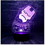 Colorido Nuevo Q Action Figuer LED Luz nocturna Base USBDormitorio Dormir 7 Cambio de color...