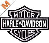 Harley-Davidson Aufnäher B&S Silber klein - EMB302542