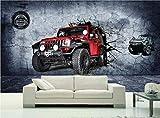 Fototapete 3D Stereo Motocross Carwall Wandbild Tapete Wohnzimmer Schlafzimmer Cafe Rennstrecke Tapete