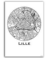 Cette carte est réalisée avec les rues de la ville. Ce sont les rues qui représentent la plus grande quantité de l'espace public dans une ville. Ces cartes modernes illustrent la beauté qui résulte de la construction de la ville. Décoration murale Ce...