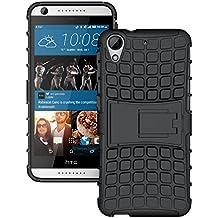 HTC Desire 626 / Desire 626s Funda, JKase DIABLO Serie Tough Resistente Dual Protección de la Capa Funda Carcasas con Pata de Cabra para HTC Desire 626 / Desire 626s (Negro)