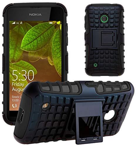 G-Shield Hülle für Nokia Lumia 530 Stoßfest Schutzhülle mit Ständer - Schwarz
