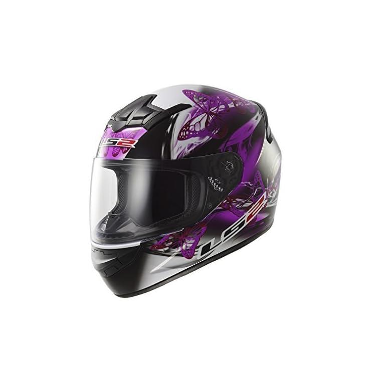 65c4ce61fc108 LS2 FF351 FF352 de Mariposas Rosa y Morado para Mujer Full Face Casco de Motocicleta  Moto