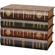Y Caja Fuerte para Libros con Cerradura de combinación, Sujetalibros Antiguos de Madera