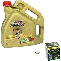 Castrol POWER1 (10 W – 40 Kit de llenado de aceite para Suzuki GSF 1200