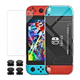 MoKo Case + Screen Protector Set for Nintendo Switch   Specially designed for Nintendo Switch console and Joy Con controllers separately to better avoid sizing issues and protect your Nintendo Switch from scratches and bumps everyday!  Features Pr...