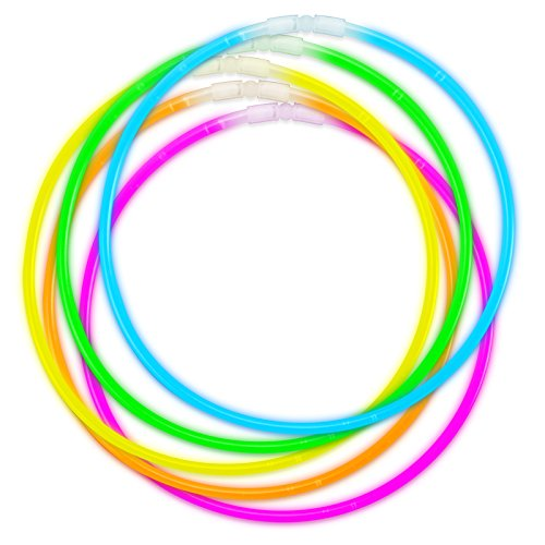 Halsketten mit dreifarbigen Glow-Sticks, 50 Stück (Glo In The Dark Farbe)
