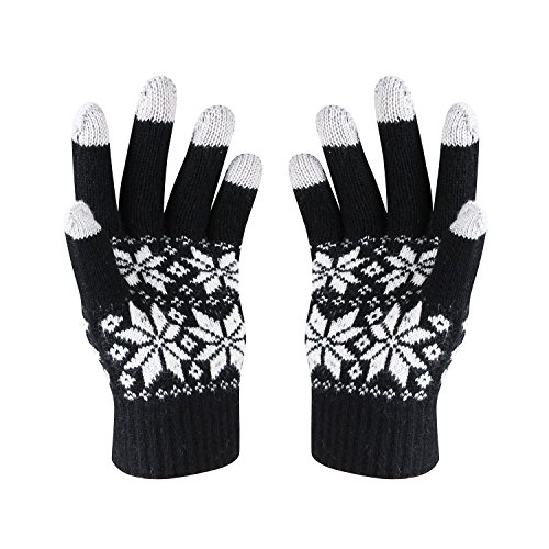 HOTER® Weihnachten Lover Snowprint Keep Warm Iphone Touch Screen (Handschuhe Weihnachten)