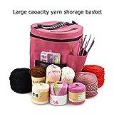 Bolsa de almacenamiento de ovillos de lana para tejer y hacer ganchillo, organizador de ovillos, con estuche para agujas