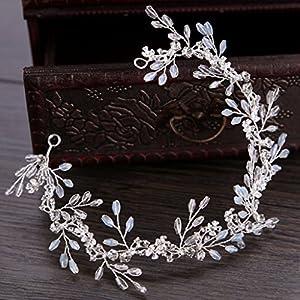 SimpleLife Handmade Crystal Strass Hochzeit Stirnband Braut Haarschmuck Kopfschmuck – böhmische Haarschmuck