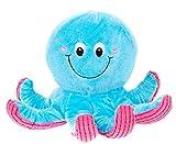 Plüschtier Oktopus, Krake aus Plüsch in blau und pink, Kuscheltier ca. 23 cm