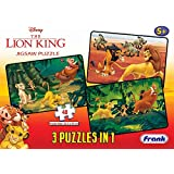 Frank Disney The Lion King Puzzles - 48 Pieces 3 in 1 Jigsaw Puzzles for Kids for Age 5 Years Old and Above