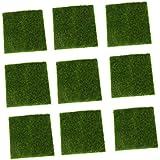 Gazechimp 9 Piezas de Musgo de Césped Miniatura Decoración de Casa Jardín DIY Paisaje Casa de Muñeca