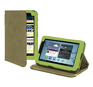 Cover-Up Samsung Galaxy Tab 2 7.0 (7-inch) Tablet Version Stand Natural Hemp Case - (Khaki Green)