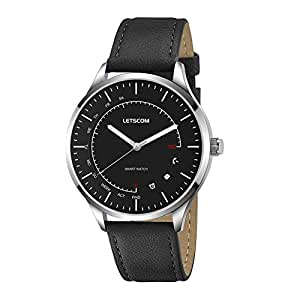 LETSCOM Smart Watch - Analog Quartz Watch and Activity Smartwatch 2-in-1 Unit, Fitness Tracker ...