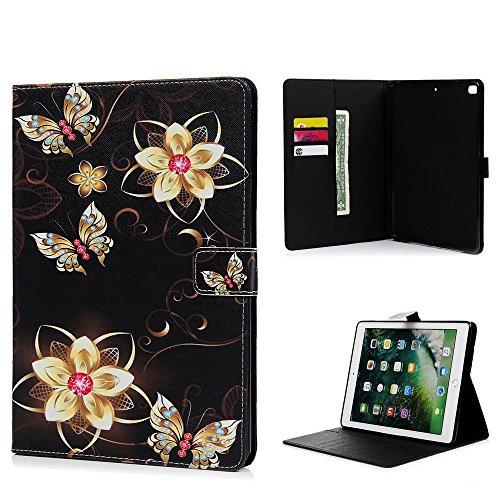 iPad Air funda, iPad Air 2Case, iPad 9.72017caso, Premium cartera de piel sintética con tapa Funda Tipo libro de reposo automático caso ranuras para tarjetas efectivo para funda para iPad Air/Air 2/iPad 20179.7Inch