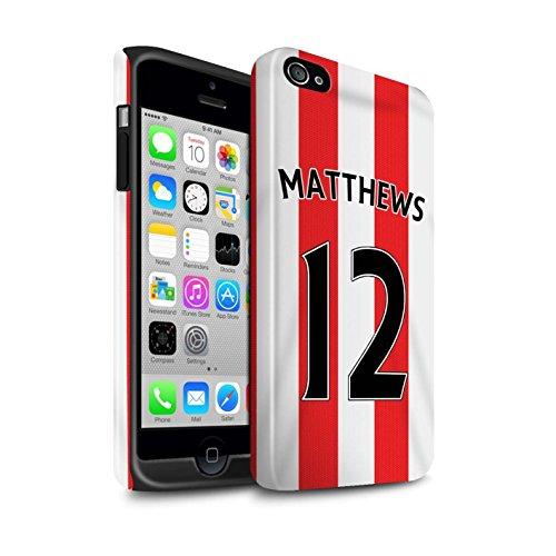 Offiziell Sunderland AFC Hülle / Glanz Harten Stoßfest Case für Apple iPhone 4/4S / Pack 24pcs Muster / SAFC Trikot Home 15/16 Kollektion Matthews