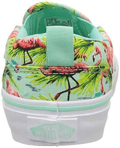 Vans Mädchen Asher Sneaker Mehrfarbig (flamingo/mint)