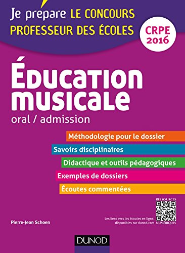 Education musicale - Oral / admission - Professeur...