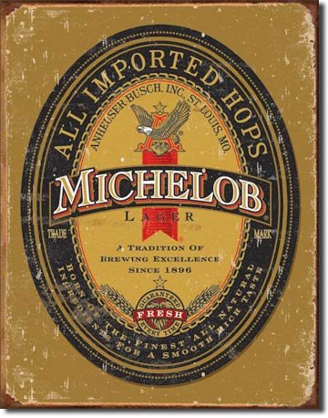 michelob-beer-antique-look-metal-sign-ga