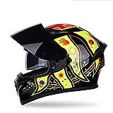 YAYUMD Motorradhelm,Klapp Helm Integral,Motorrad Roller Helm,Visier Helm,Universalhelm für Männer und Frauen,C,XXL